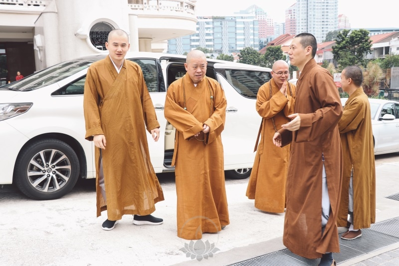 纯一大和尚参访新加坡佛学院