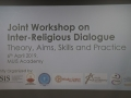 Workshop on Inter-religious Dialogue: Theories, Aims, Skills and Practices